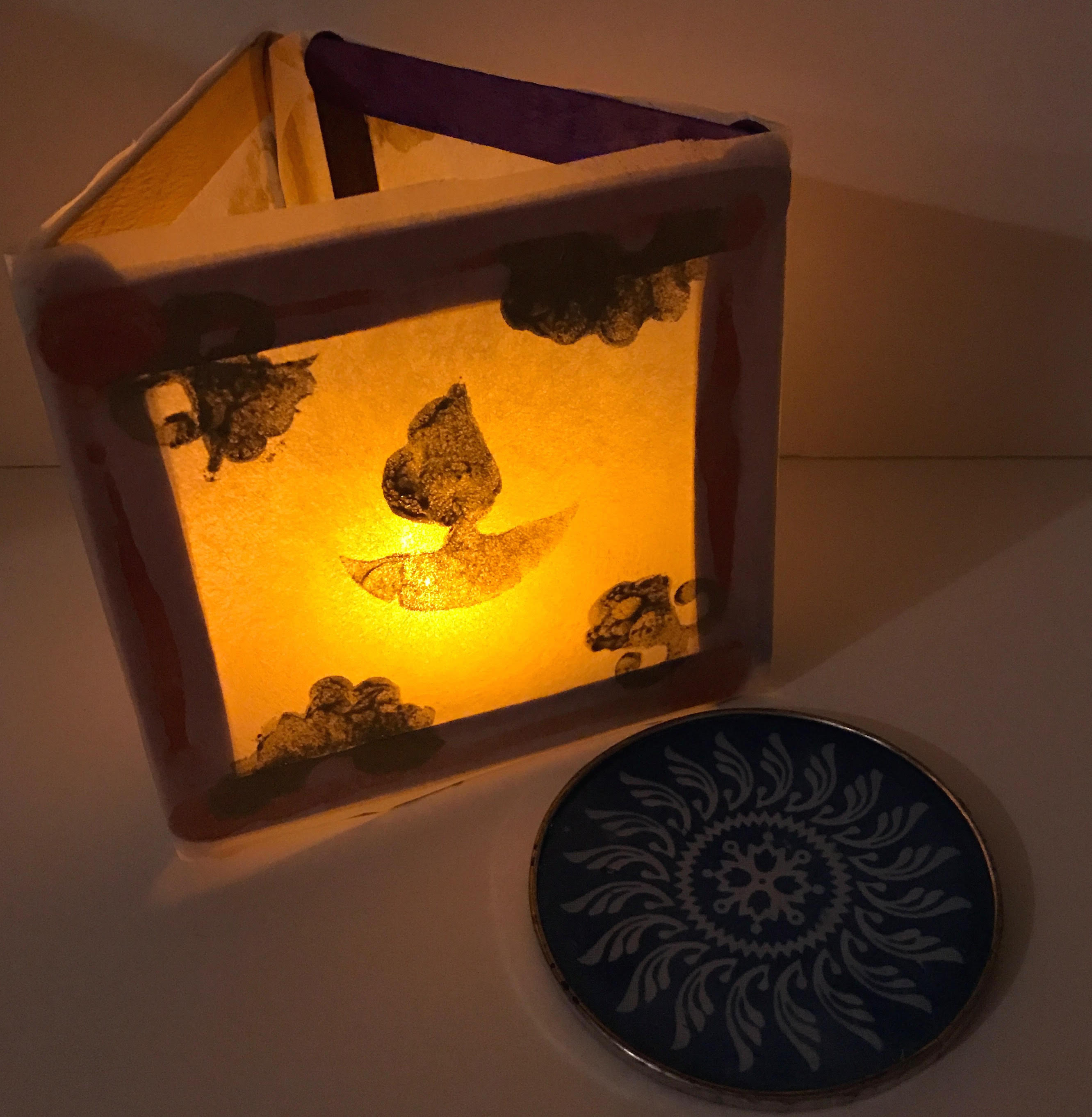 Diwali Activity for Preschoolers with Diya Lantern