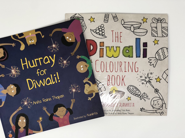Hurray For Diwali + The Diwali Coloring Book Bundle