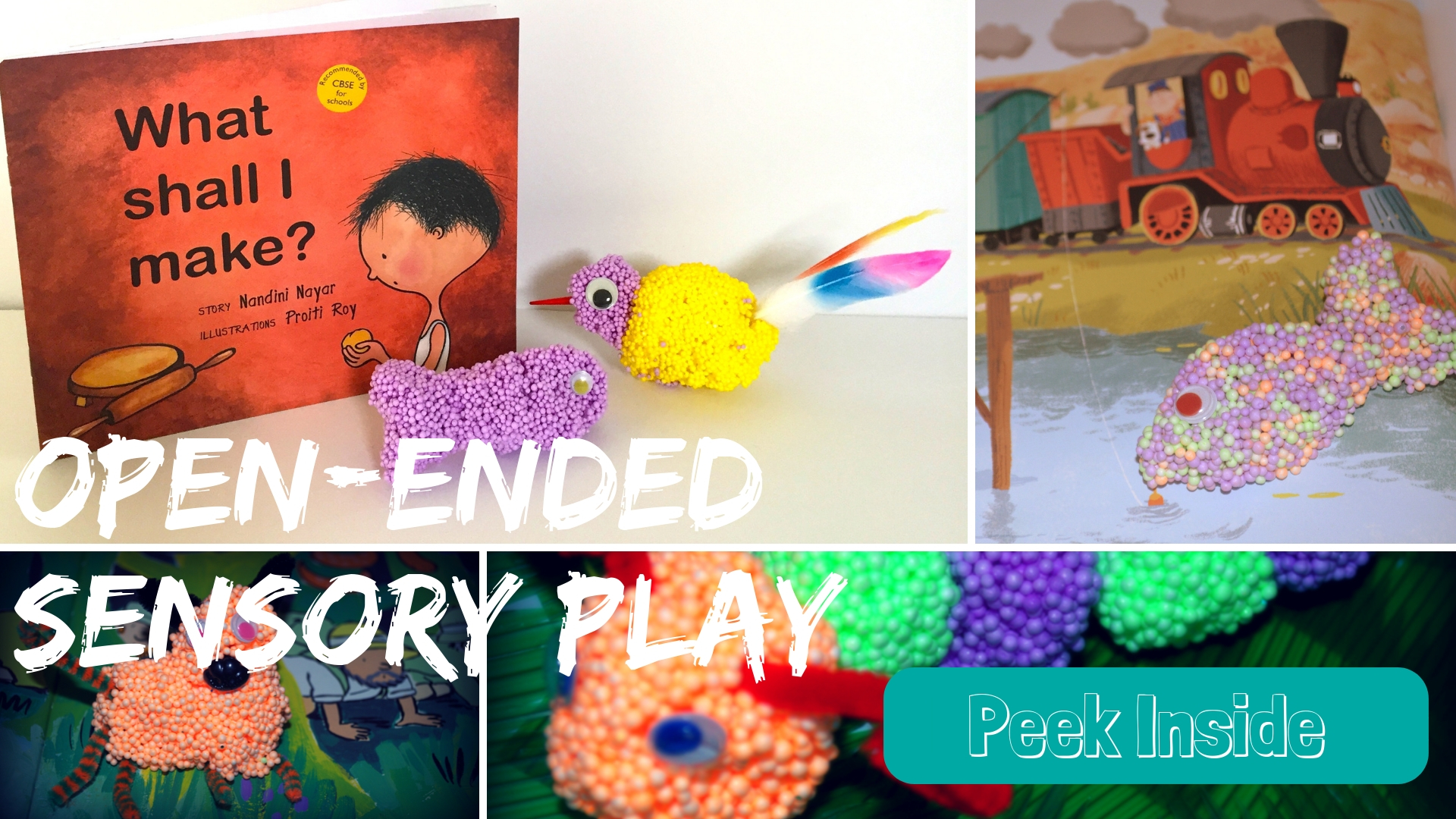 Open-ended Sensory Play for preschoolers
