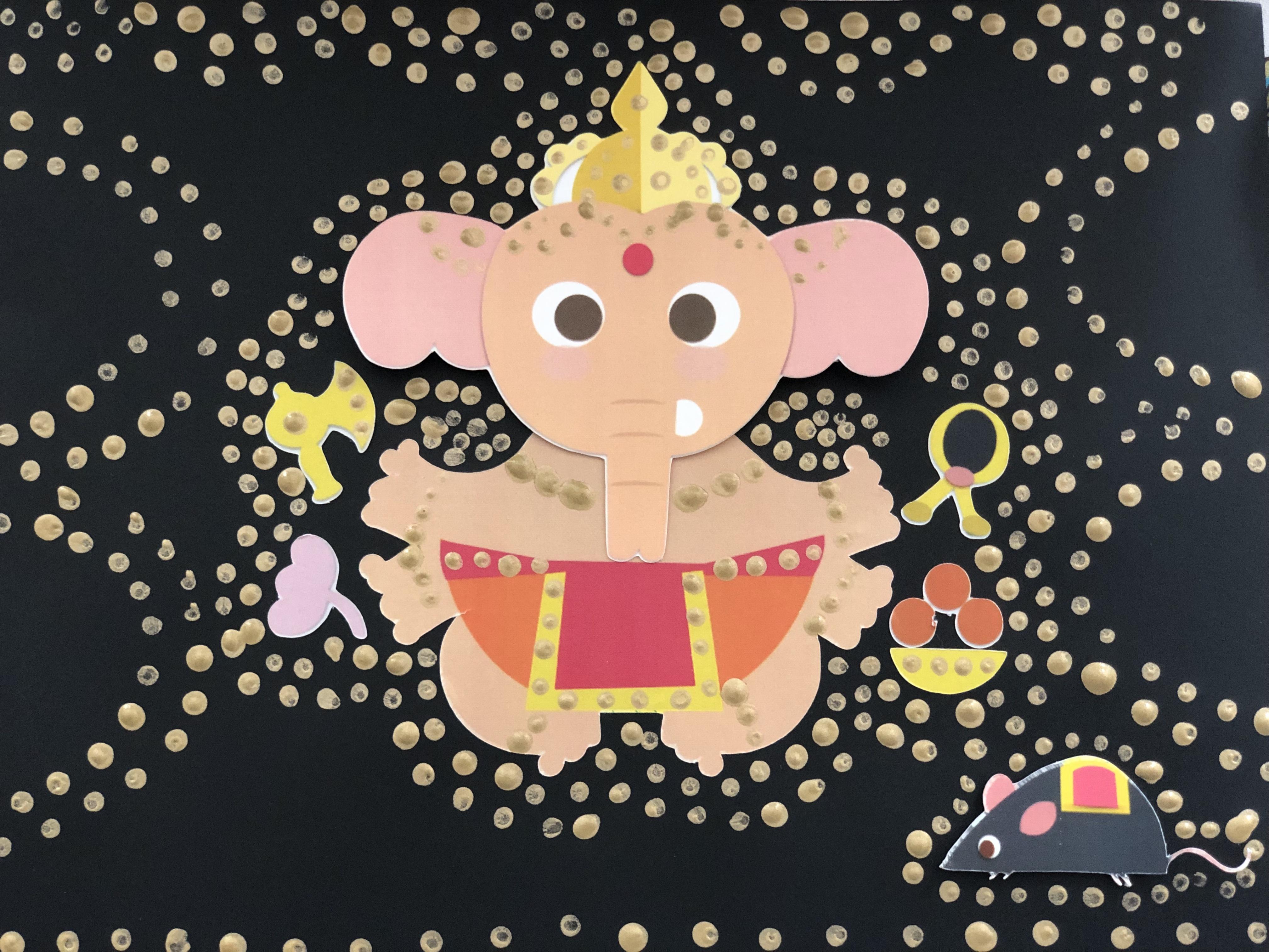 Ganesha Art for preschoolers