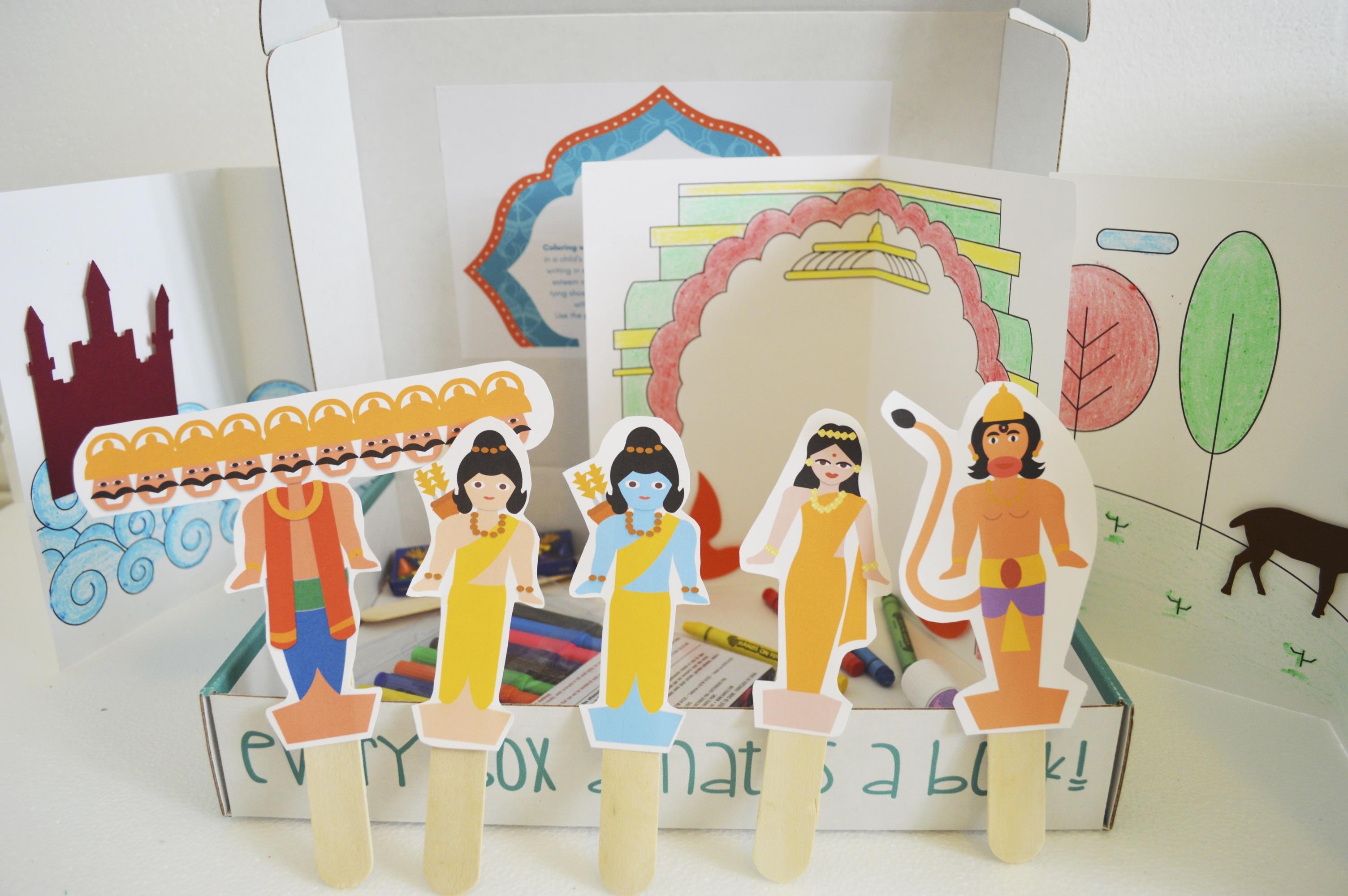 Ramayana Stick Puppets for preschoolers