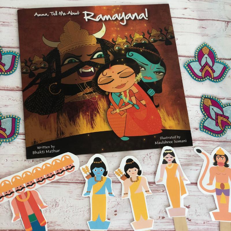 Ramayana Box - Ramayana Stick Puppets