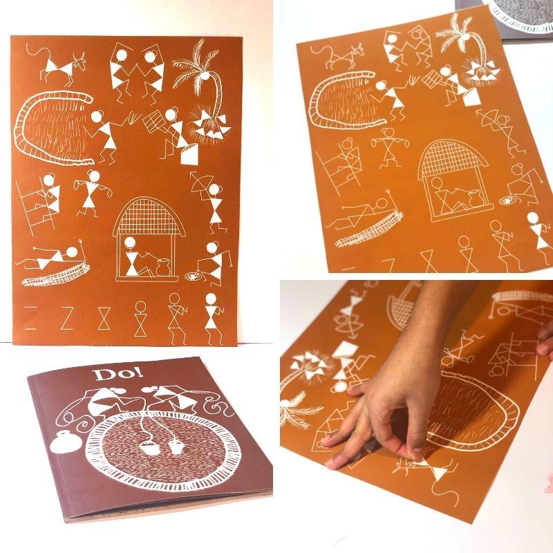 Warli Art Sticker Puzzle for preschoolers