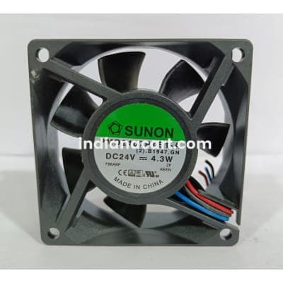 SUNON DC BRUSHLESS PMD2407PTB1-A, 3 WIRE
