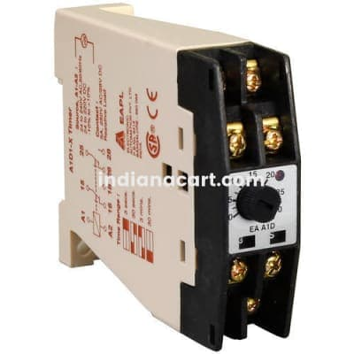 A1DE, Interval timer 8V to 30 VDC, 0.3S-30 Mins, Rly 2 C/O