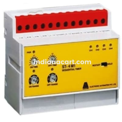 ST-4M1, Sequential 4Channel timer 240VAC
