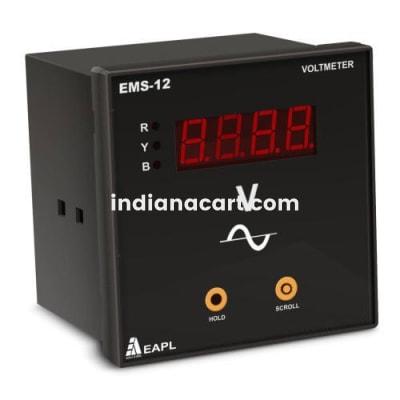 EMS-12, EAPL, Volt Meter Aux.240VAC I/P3P4W  CL 1.0