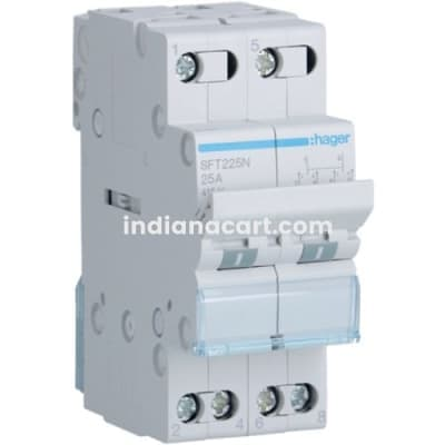 25A, 2P,  CHANGEOVER SWITCH