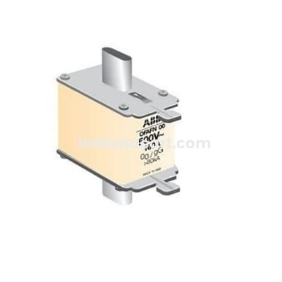 200A OFAF HRC fuse DIN -type fuse links, gG, 500 V, 80 kA OFAFN1GG200 ORDERING NO: 1SCA107773R1001 ABB