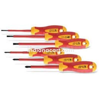 HOGERT, HT1S996, 6- piece insulated screwdriver set, 1000 V, S2 steel