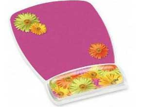 3M Mouse Pad with Gel Wrist Rest, Daisy Design