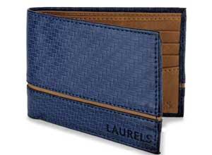 Laurels Mens Wallet Blue