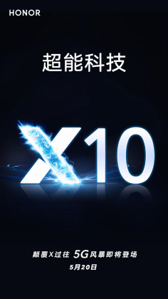 Honor X10 poster