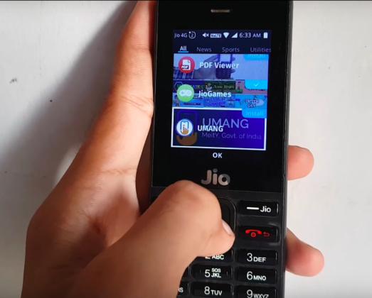 Jio Phone JioEasyGov, UMANG Apps