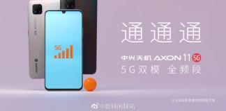 Zte Axon 11 5G renders
