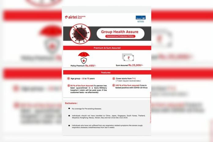 Airtel Coronavirus Protection Policy