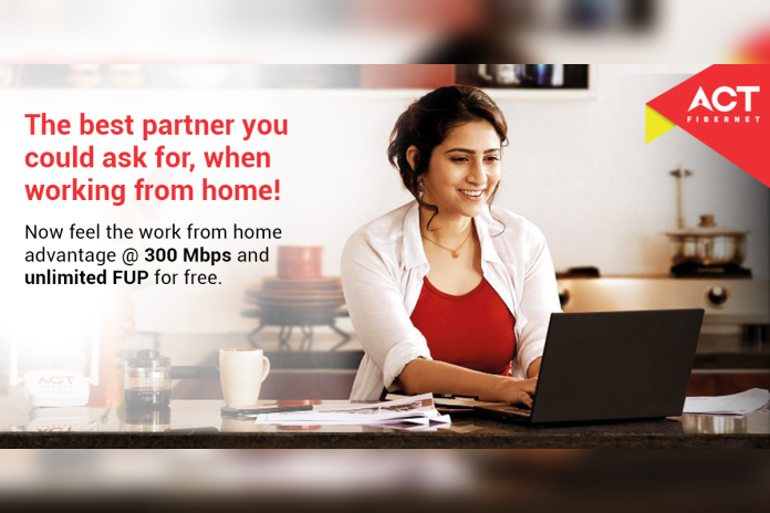 ACT Fibernet work from home offer