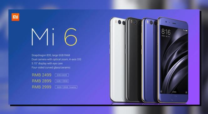 Xiaomi Mi 6 Ceramic Edition Sale to happen in China today for CNY 2,999