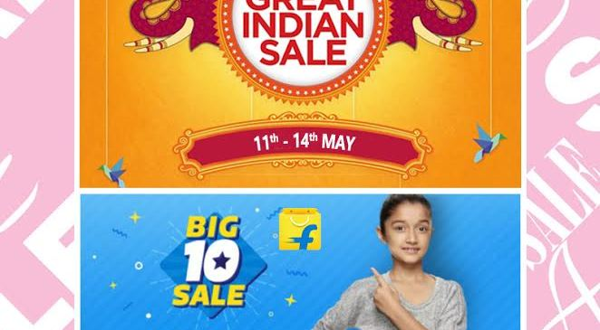 Here's another Big Sale by Flipkart and Great Sale by Amazon in the Upcoming weeks of May