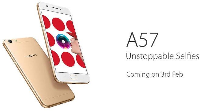 Oppo A57  Launch is Psyched -Up for February 3, 2017