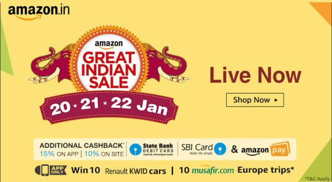 Amazon The Great Indian Sale is Up and the Deals Offered are too Irresistible to be Missed Out!