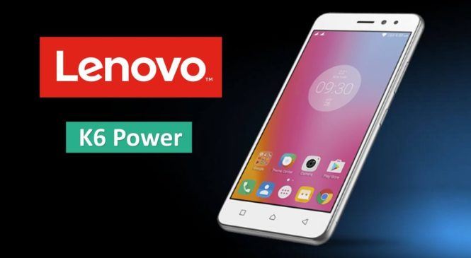 Lenovo K6 Power 4GB RAM to launch Today in India