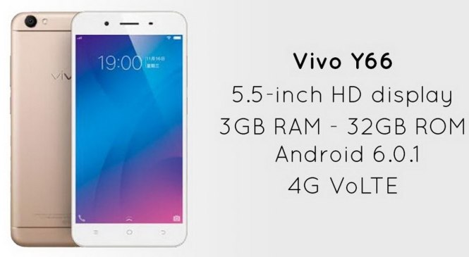 Vivo Y66 Mobile Launched in India at Rs 14,999 with 16 MP Selfie Camera