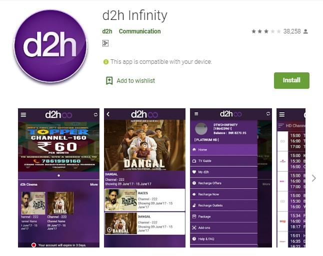 d2h App