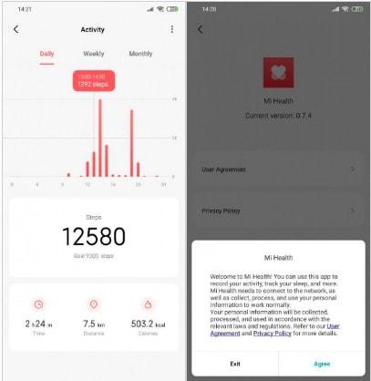 mi health app