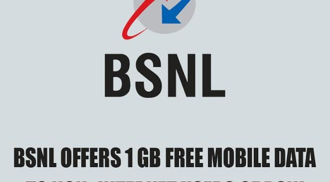 BSNL Offers 1 GB Free Mobile Data to Non- Internet Users of BSNL
