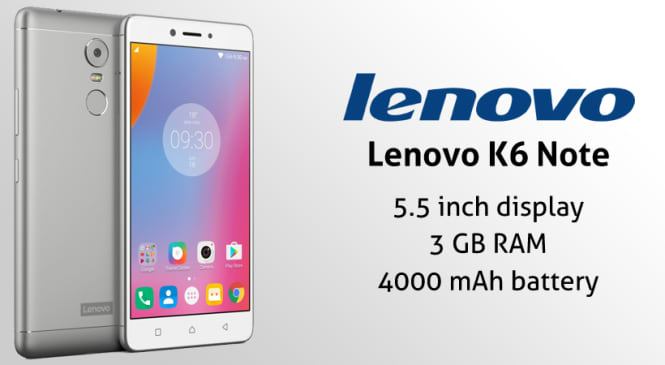 Lenovo K6 Note: The Smartphone Which Offers You Features of a High Budget Mobile in a Small Budget