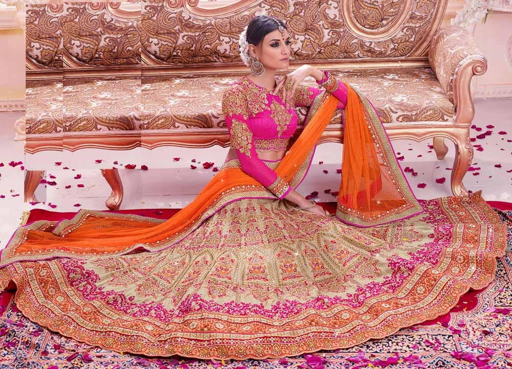 Other Women's Clothing Indian Bridal Wedding Lehenga Heavy Embroidered High Quality Clothing, Shoes & Accessories