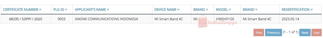 Mi Smart Band 4C Indonesia Telecom
