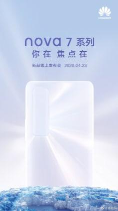 Huawei Nova 7 launch poster