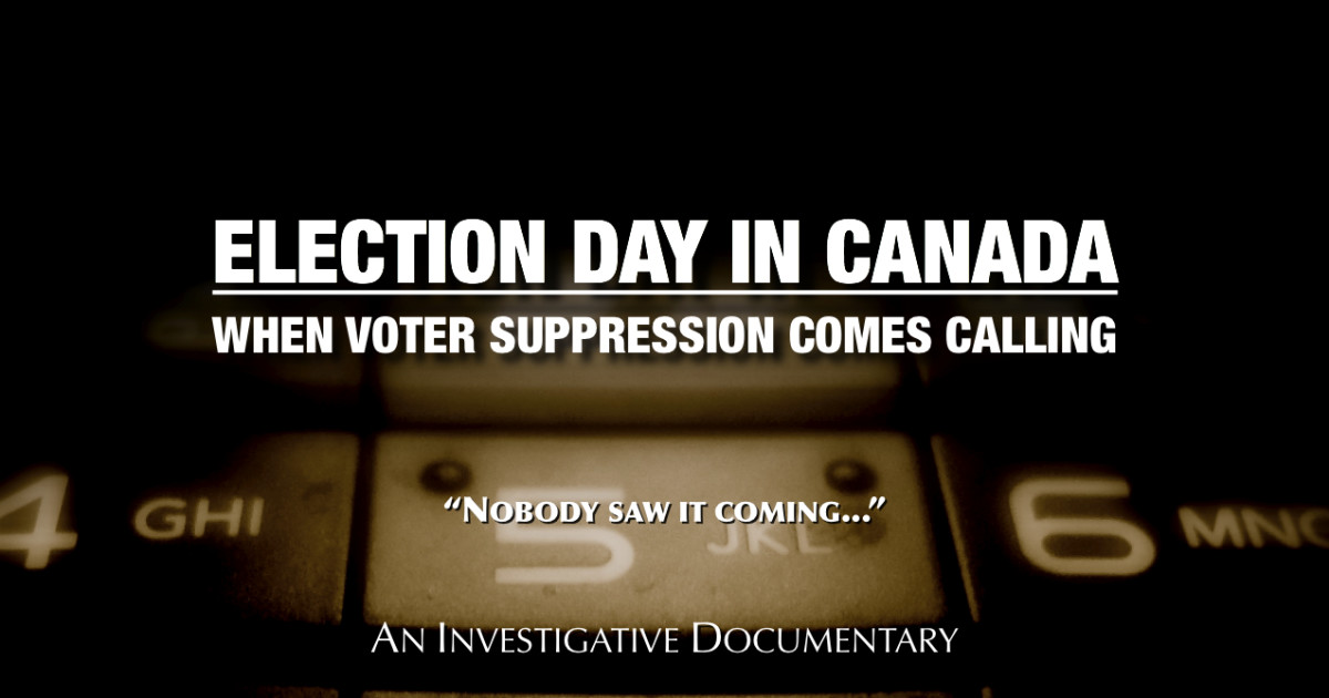 Thumbnail for CLICK HERE to support THE DRAMATIC RISE OF VOTER SUPPRESSION IN CANADA