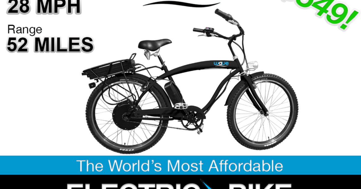 Wave Electric 28 Mph Bike Indiegogo