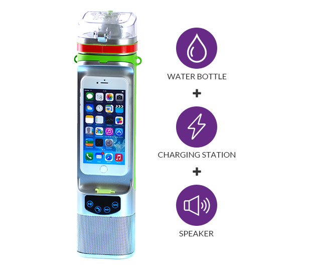 Next Bottle Water Bottle With Charger And Speaker Indiegogo