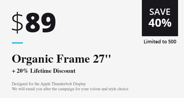 Organic Frame - Designed for your TVs & displays | Indiegogo