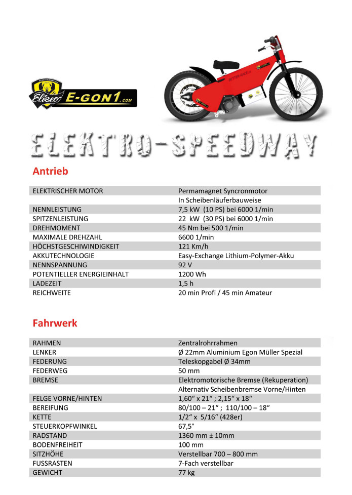 First Electric Speedway Bike by Eliseo Hummer | Indiegogo