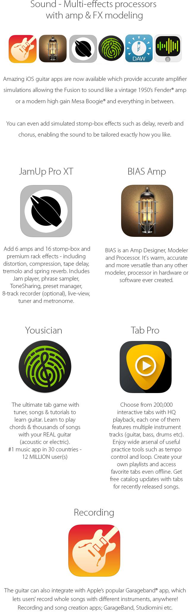 Fusion Guitar Iphone Integration Amp Speakers Indiegogo