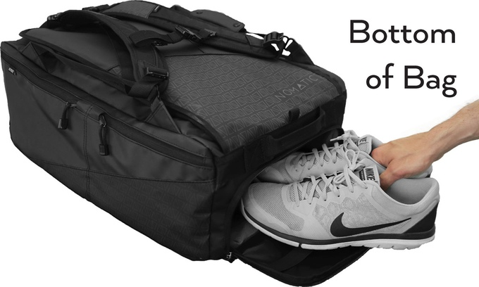On The Top Of Bag Is A Similar Compartment To Shoe Where You Can Keep Socks Underwear Or Even Light Jacket For Easy Access When