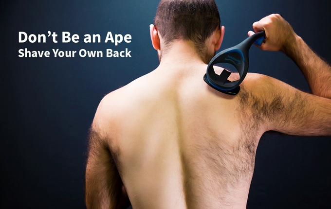 Bakblade 20 the best diy back body shaver indiegogo isnt it about time you put the man back in manscaping solutioingenieria Choice Image