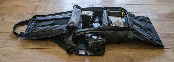 The clamshell opening makes it easy to pack all of your gear. There's a reason why all travel luggage uses lay-flat packing.
