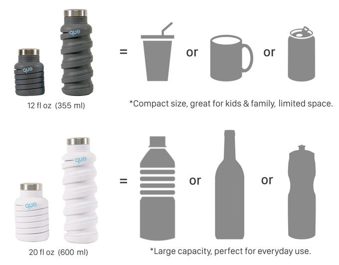 que Bottle Size | Dr. Koala