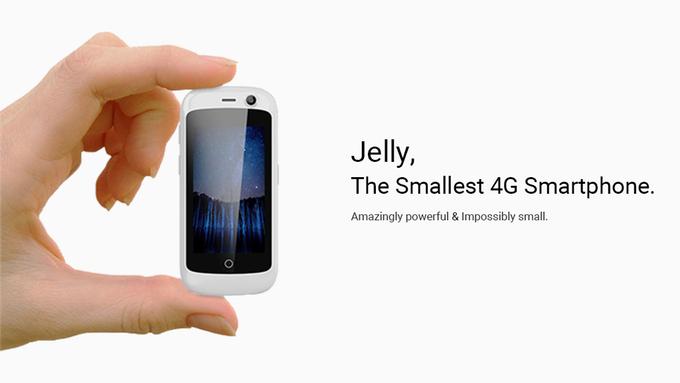 Jelly - クラウドファンディングから来る超小型 4G対応 DSDS スマホ
