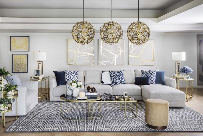 Big Grey L-Shaped Sofa