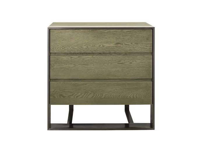 Kennedy Three Drawer Bedside Table