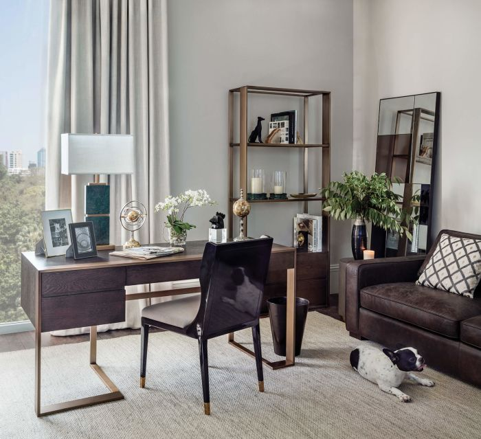 Wood Top Kennedy Desk and Bookcase Home Office
