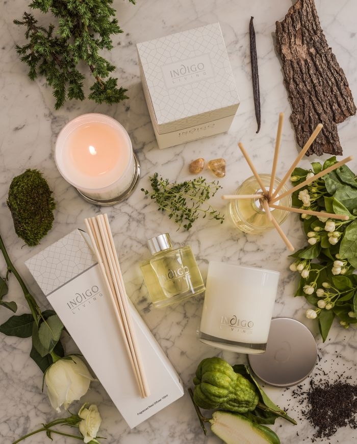 Indigo Living Diffusers and Candles Collection