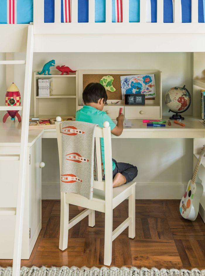 Noah Kids Cabin Bed with Desk
